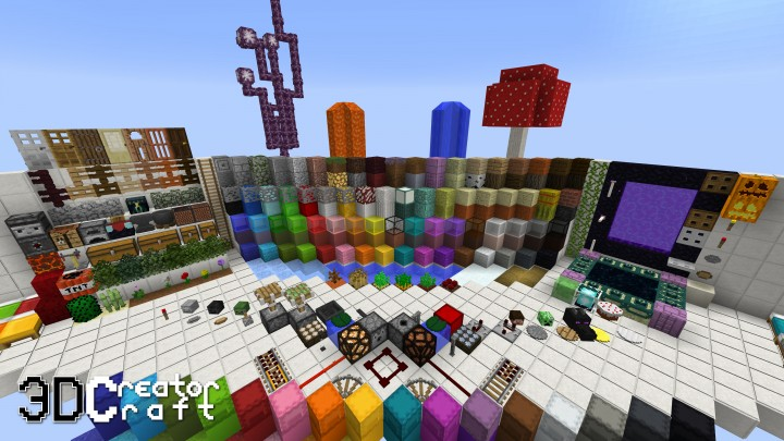 3D CreatorCraft Resource Pack 1.15 / 1.14 | Texture Packs