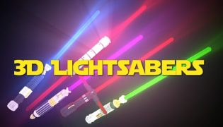 Glowing 3D Lightsabers Resource Pack 1.15 / 1.14