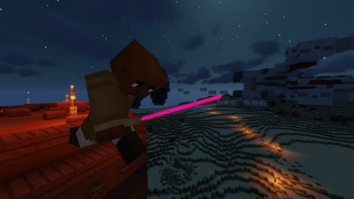 Glowing 3D Lightsabers Resource Pack 1 13 / 1 12 2 | Texture Packs