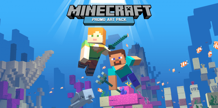 Minecraft Promo Art Resource Pack 1 13 / 1 12 2 | Texture Packs