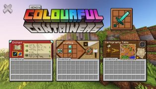 Colourful Containers GUI Resource Pack 1.16 / 1.15