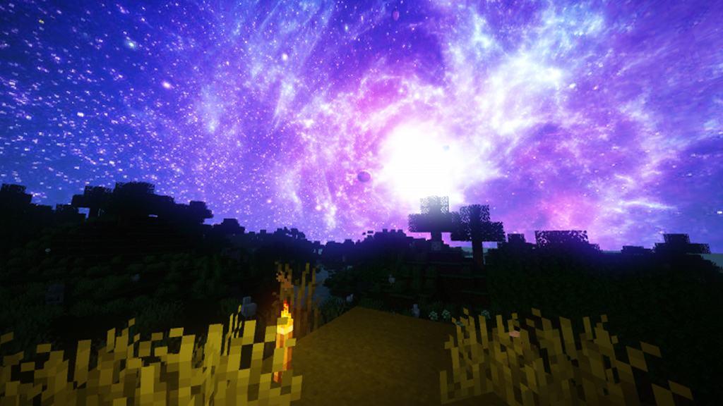 текстуры красивый космос небе для майнкрафт #4
